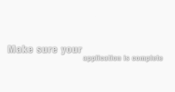 How To File A Successful Application