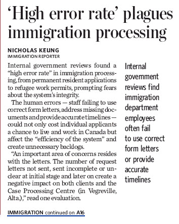 """""""High error rate"""" plagues immigration processing"""