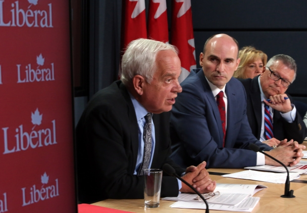 Liberal candidates, from left to right, John McCallum, Jean-Yves Duclos Ralph Goodale, Mary Ann Mihychuk... THE CANADIAN PRESS/Fred Chartrand