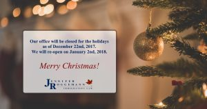 JR Law Christmas - Closed for the Holidays
